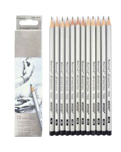"""Набір олівців, дерев'яних, чорнографітних, 12 штук, різної твердості, """"Raffine"""", Marco"""
