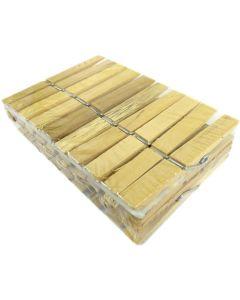 Упаковка прищіпок, 9х1,5 см, 20 штук, дерев'яних