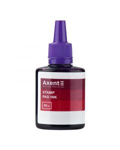 Фарба штемпельна 30 мл фіолетова AXENT
