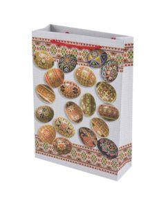 Пакет подарунковий, 24х34 см, картонний, Фоліо + (Великодній)