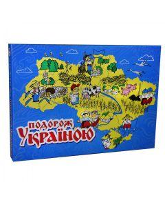 """Настільна гра,  україномовна, в коробці 41,5х30х4,5 см, """"Подорож Україною"""", Strateg"""