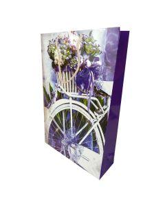 """Пакет подарунковий, 25х37 см, паперовий, вертикальний, """"Велосипед"""""""