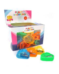 """Чинка з контейнером пластикова одинарна """"Хмаринка"""" Plastic Sharpener"""