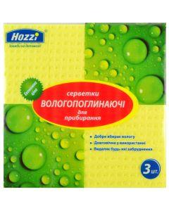 Упаковка серветок 155х155 см 3 штуки целюлозні для прибирання Hozzi
