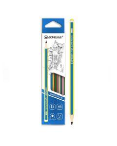 """Олівець дерев'яний, чорнографітний, загострений, НВ, """"Смуги"""", Acmeliae"""
