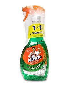 Миючий засіб для скла зі спиртом + змінник Mr. Muscle